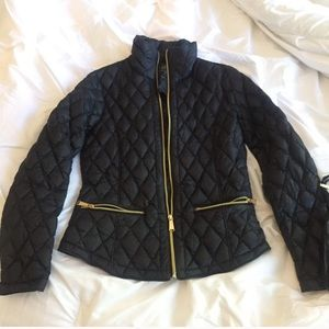 Michael Kors Black Quilted Puffer Jacket S